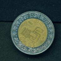 MEXICO  -  1992  $5  Circulated Coin - Mexico