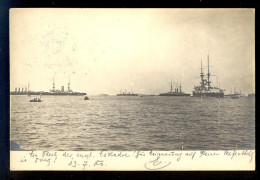 Various Ships / Year 1900 / Old Postcard Circulated - Barche