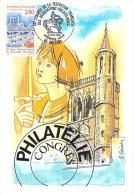 FRANCE CARTE MAXIMUM  NUM.YVERT 2953  ORLEANS PONT GEORGES V ET CATHEDRALE - 1990-99