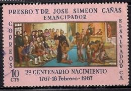 B166 - El Salvador 1967 - The 100th Anniversary Of The Birth Of Father J. S. Canas Y Villacorta, Slavery Emancipator Use - Salvador
