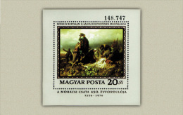 Hungary 1976. War  - Mohács - Paintings Sheet MNH (**) Michel: Block 120A / 5 EUR - Unused Stamps