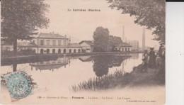 CPA - FROUARD - La Gare, Le Canal, Les Forges, Animé   2 Scan - Frouard