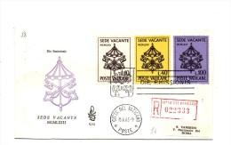 Fa58 - VATICANO FDC 1963 ( Ed. VENETIA ) : SEDE VACANTE  Viaggiata In Raccomandata - FDC