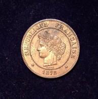 5 C. Cérès - 1878 A - TTB+ - C. 5 Céntimos