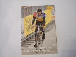 FIGURINA TIPO CARDS MERLIN ULTIMATE, CICLISMO, 1996,  CARD´S N° 134 PETER VAN PETEGEM - Ciclismo