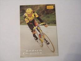 FIGURINA TIPO CARDS MERLIN ULTIMATE, CICLISMO, 1996,  CARD´S N° 138 ANDREA CHIURATO - Ciclismo