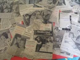 Coupures De Presse/Cinéma/Vadim-Stroyberg/Bardot/Sagan/Naissance De Nathalie Plemannikov/1957     CIN34 - Zeitungen