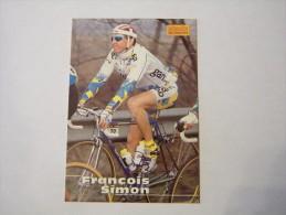 FIGURINA TIPO CARDS MERLIN ULTIMATE, CICLISMO, 1996,  CARD´S N° 155 FRANçOIS SIMON - Ciclismo