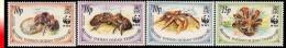 Océan Indien 0131/34** Crabes WWF  MNH