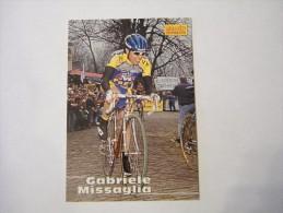 FIGURINA TIPO CARDS MERLIN ULTIMATE, CICLISMO, 1996,  CARD´S N° 165 GABRIELE MISSAGLIA - Ciclismo