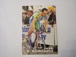 FIGURINA TIPO CARDS MERLIN ULTIMATE, CICLISMO, 1996,  CARD´S N° 176 JOSé GARCIA RODRIGUEZ - Ciclismo