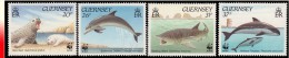 Guernesey ** Dauphins Baleines WWF  MNH