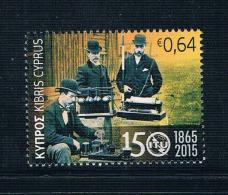 YA0385 Cyprus 2015 The 150th Anniversary Of The International Telecommunication Union Telegraph 1 New 1118 - Zypern (Republik)