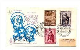 Fa62 - VATICANO FDC 1963 ( Ed. VENETIA ) : CIRILLO E METODIO  Viaggiata In Raccomandata - FDC