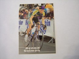 FIGURINA TIPO CARDS MERLIN ULTIMATE, CICLISMO, 1996,  CARD´S N° 213 BENOIT SALMON - Ciclismo