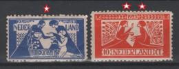 PAYS-BAS - 1923 - * & ** - Y&T 131,132 - Valeur  72.50 €