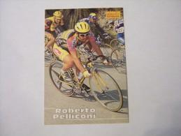 FIGURINA TIPO CARDS MERLIN ULTIMATE, CICLISMO, 1996,  CARD´S N° 218 ROBERTO PELLICONI - Ciclismo
