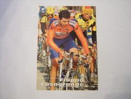 FIGURINA TIPO CARDS MERLIN ULTIMATE, CICLISMO, 1996,  CARD´S N° 226 FILIPPO CASAGRANDE - Ciclismo