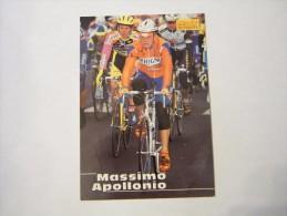 FIGURINA TIPO CARDS MERLIN ULTIMATE, CICLISMO, 1996,  CARD´S N° 233 MASSIMO APPOLLONIO - Ciclismo