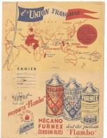 Protège Cahier L'Union Française MECANO FOURNEX Sont Des Produits FLAMBO Des Années 1960 Environ - Protège-cahiers