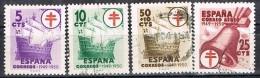 Serie Completa Pro Tuberculosos 1949,  Num 1066-1069 º - 1931-Aujourd'hui: II. République - ....Juan Carlos I