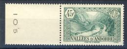 Andorra 1937-43 N. 63 C. 45 Verde-azzurro Della Serie Paesaggi MNH € 13 - Andorre Français