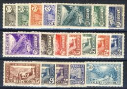 Andorra 1937-43 Lotto Di 19 Bolli Della Serie N. 61-92 Paesaggi MNH E MH Catalogo € 36 - Andorre Français