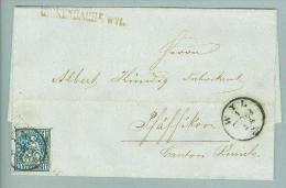 Heimat SG Rickenbach B.Wyl 1863-09-01 Langstempel Auf Brief Nach Pfäffikon Sitzende H. - Lettres & Documents