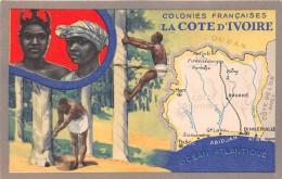 """¤¤  -    COTE-D´IVOIRE   -   Carte Publicitaire """" Lion Noir """"  -  Colonie Française  -  ¤¤ - Côte-d'Ivoire"""