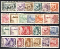 Andorra 1932-33 Serie N. 24-45 Paesaggi MNH E MH Catalogo € 450 - Andorra Francese