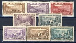 Andorra 1932-33 Lotto Di 8 Bolli Della Serie N. 24-45 MNH-MH Catalogo € 9 - Andorra Francese