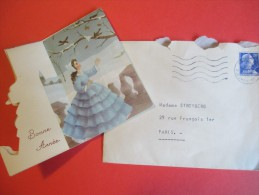 Carte De Voeux /Cinéma/Adressée à Annette Stroyberg ( Vadim) Pour La Naissance De Sa Fille/1957     CIN40 - Zeitungen