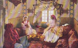 Algeria Women In A Turkish Sitting Room