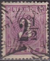 Ned. Indië: Vierkantstempel INDRAMAJOE Op 1902 Hulpuitgifte 2½ / 3 Cent Lila NVPH 39 - Indes Néerlandaises