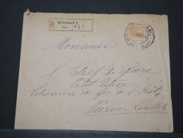 ROUMANIE - Env Recommandée Avec N° 111 Pour Paris - Sept 1904 - A Voir - P 16005 - Marcofilia