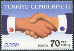 TURQUIA AÑO 2006 YVERT Nº 3236 ** MNH Sellos Nuevos Sin Fijasellos - EUROPA - LA INTEGRACION - 1921-... República