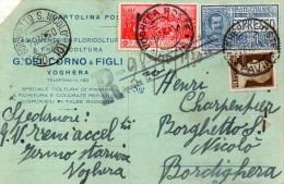 1940 CARTOLINA ESPRESSO CON ANNULLO VOGHERA PAVIA  + BORGHETTO S. NICOLO' - Posta Espresso