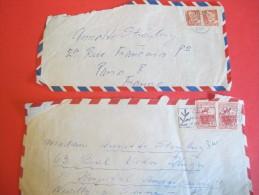 2 Enveloppes Affranchies Au Danemark/Cinéma/Annette STROYBERG ( Madame VADIM)/1957     CIN38 - Newspapers
