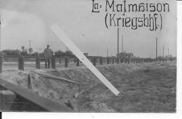 Aisne Chemin Des Dames Gare Allemande De La Malmaison 1 Carte Photo 1914-1918 14-18 Ww1 Wk - War, Military