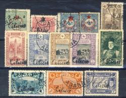 Cilicia 1919 Serie Sovrastampa C N. 38-56 (solo I 13 Valori Minori) USATI Catalogo € 66