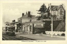 Condé Sur Huisne   (61.Orne)  La Gare Et La Villa - France