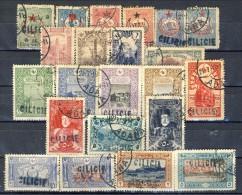 Cilicia 1915-16 Sovrastampa A Serie N. 1-26 ( Solo I 23 Valori Minori) USATI Catalogo € 290