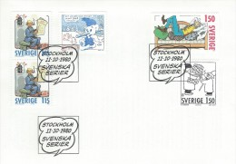 Sweden - Swedisk Comic Strips.    Fdc.  H-692 - Fairy Tales, Popular Stories & Legends