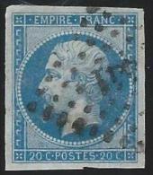 France          Yvert      14A                O              Oblitéré - 1853-1860 Napoleon III