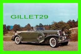 PASSENGERS CARS - 1933 DUESENBERG, MODEL J, TOURSTER BODY BY DERHAM - - Voitures De Tourisme