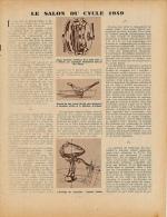 1949 : Document, SALON DU CYCLE (3 Pages Illustrées) Boite Vilex, Dérailleur Huret, Eclairage, Moteur Mosquito, Scooter - Ohne Zuordnung
