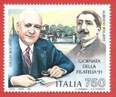 ITALIA REPUBBLICA MNH - 1991 - 6ª Giornata Della Filatelia - £ 750 - S. 1980 - 6. 1946-.. Repubblica