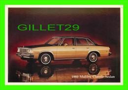 PASSENGERS CARS - CHEVROLET 1980 MALIBU CLASSIC SEDAN - - Voitures De Tourisme