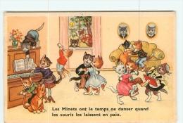CHATS -  Le BAL Des Minets Avec Pianiste Et Chanteurs En L'absence Des Souris -  2 Scans - Chats