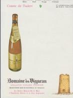 2 MENUS VIERGE AVEC PUBLICITE - Domaine Du Vigneau ATHEE SUR CHER (Indre Et Loire) - Menus